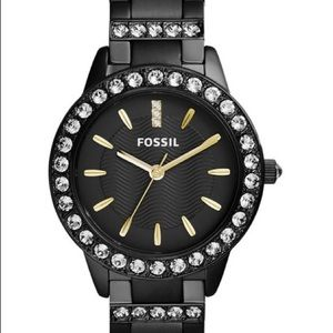 FOSSIL CRYSTAL TRIMMED WATCH